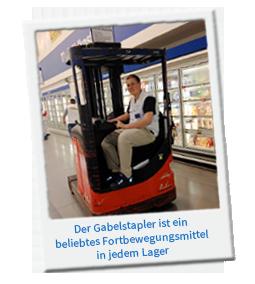 Gabelstapler fahren als Fachlagerist - jetzt Ausbildungsplatz 2014 sichern!